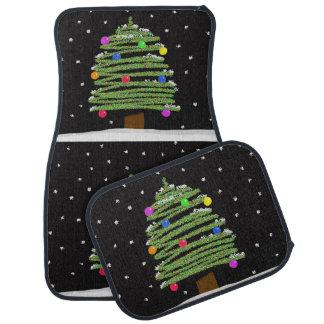 Tapis de plancher de voiture d'arbre de Noël Tapis De Voiture
