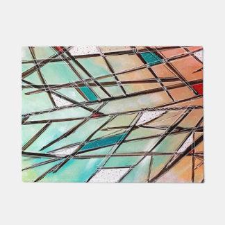 Tapis de porte coloré