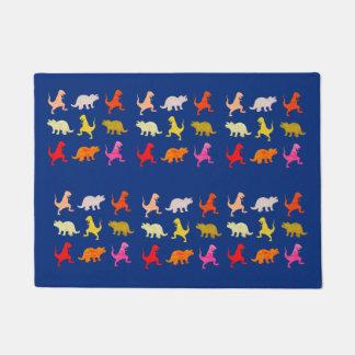 Tapis de porte coloré de dinosaures