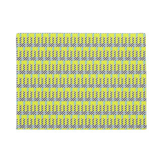 Tapis de porte coloré lumineux de zèbre de vert de