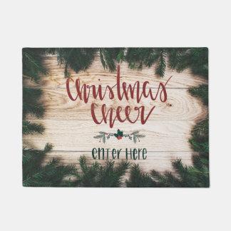 Tapis de porte d'acclamation de Noël