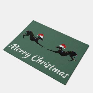 Tapis de porte de Noël de lévrier italien