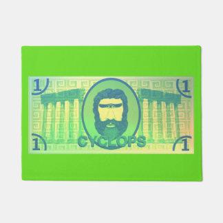 Tapis de porte du dollar de cyclopes