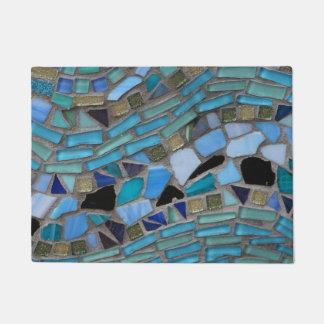 Tapis de porte en verre de mosaïque de mer bleue