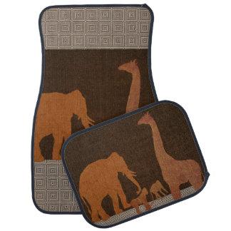 Tapis De Sol Animaux de zoo de jungle de safari de Brown