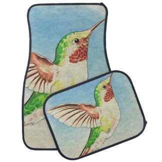 Tapis De Sol Art de bleu de colibri