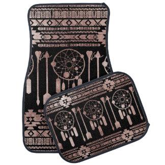 Tapis De Sol Aztèque tribal d'or rose de Dreamcatcher sur le
