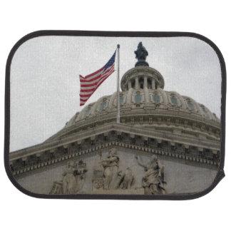 Tapis De Sol Bâtiment de capitol des USA avec le drapeau
