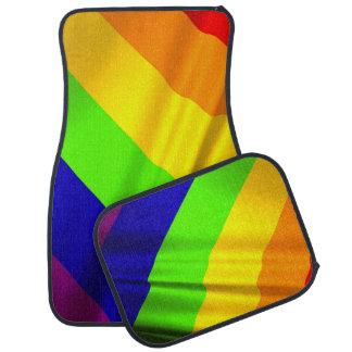 Tapis De Sol beaucoup ont coloré le drapeau d'arc-en-ciel