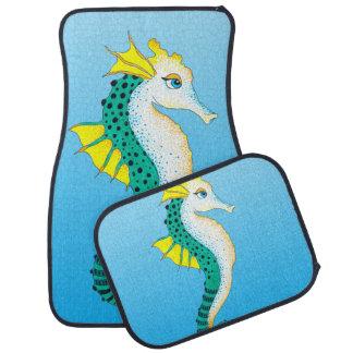 Tapis De Sol bleu turquoise d'hippocampe