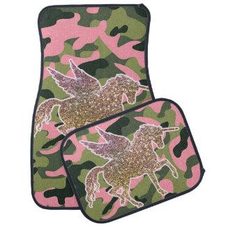 Tapis De Sol Camouflage de Camo et licorne verts roses de