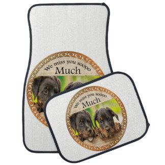 Tapis De Sol Chiots mignons de rottweiler noir avec les visages