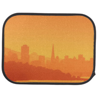 Tapis De Sol Coucher du soleil lumineux de San Francisco