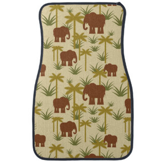 Tapis De Sol Éléphants et paumes dans le camouflage