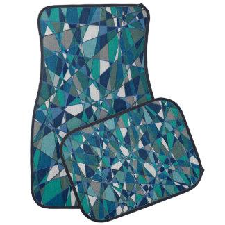 Tapis De Sol Ensemble décoratif de style bleu de gemme de 4