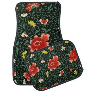 Tapis De Sol Ensemble floral vintage de motif de Japonais de 4
