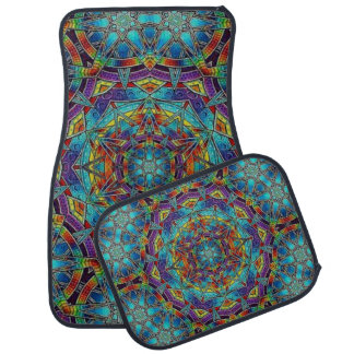 Tapis De Sol Ensemble multicolore de conception en verre