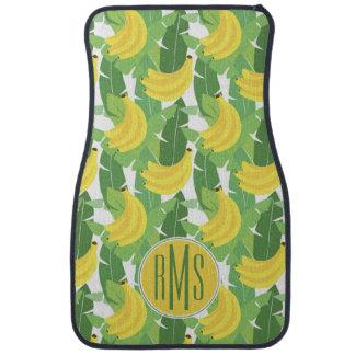 Tapis De Sol Feuille de banane et monogramme du motif   de