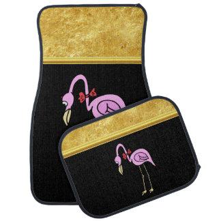 Tapis De Sol Flamants roses se tenant avec une cravate d'arc