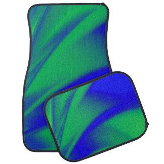 Tapis De Sol Flux de bleu et de vert