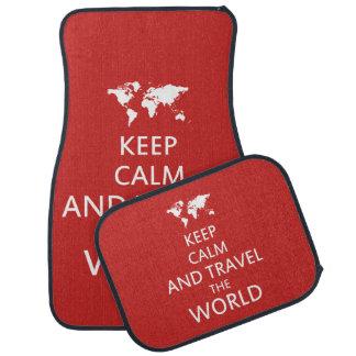Tapis De Sol Gardez le calme et voyagez le monde