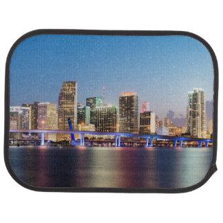 Tapis De Sol Horizon lumineux de Miami du centre au crépuscule