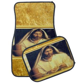 Tapis De Sol Jésus cassant la texture d'or de Matthew 14-13 de