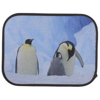 Tapis De Sol L'Antarctique. Pingouins et poussin d'empereur