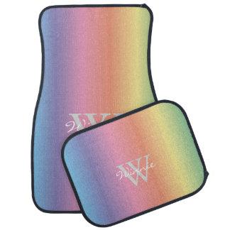 Tapis De Sol L'arc-en-ciel en pastel coloré colore le