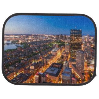 Tapis De Sol L'horizon de Boston au crépuscule