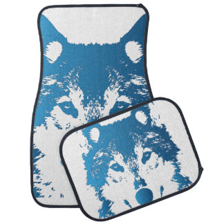 Tapis De Sol Loup de bleu glacier d'illustration