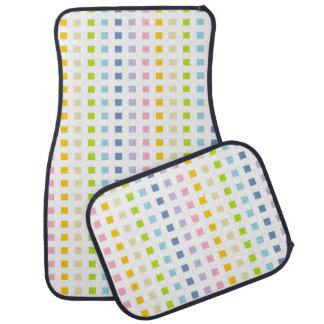 Tapis De Sol Mini carrés en pastel d'arc-en-ciel