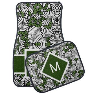 Tapis De Sol Monogramme et vert audacieux avec la copie