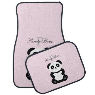 Tapis De Sol Monogramme Girly mignon d'ours panda de bébé
