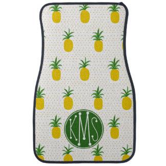 Tapis De Sol Monogramme tropical d'or des ananas |