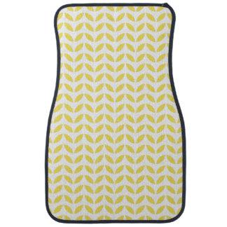 Tapis De Sol Motif jaune à la mode moderne de feuille