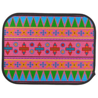 Tapis De Sol Motif tribal aztèque de rose d'arc-en-ciel