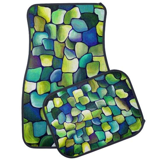 Tapis De Sol Motif vert contemporain