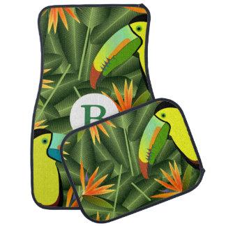 Tapis De Sol Oiseaux tropicaux de toucan du paradis et de la