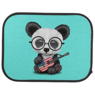 Tapis De Sol Panda de bébé jouant la guitare de drapeau