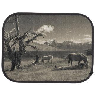 Tapis De Sol Paysage avec des chevaux