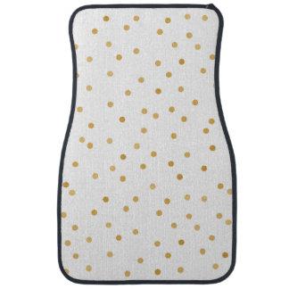 Tapis De Sol Points modernes élégants de confettis de blanc et