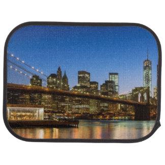 Tapis De Sol Pont de Manhattan et de Brooklyn au crépuscule