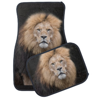 Tapis De Sol Portrait de plan rapproché d'un lion masculin