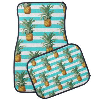 Tapis De Sol rayures de sarcelle d'hiver d'ananas
