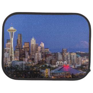 Tapis De Sol Seattle, le centre ville et mont Rainier au