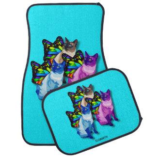 Tapis De Sol Trois chats psychédéliques avec le cool d'ailes de