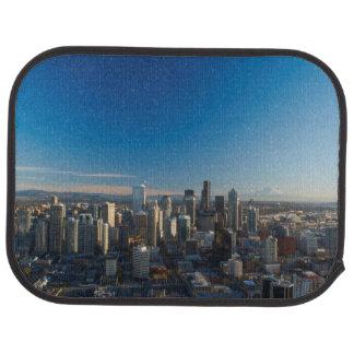 Tapis De Sol Vue aérienne d'horizon de ville de Seattle