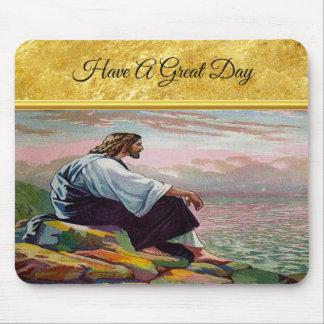 Tapis De Souris 14h22 de Matthew - 23 Jésus prie seul par la mer