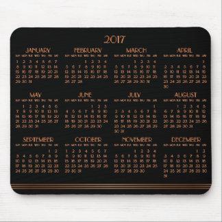 Tapis de souris 2017 noir en bronze de calendrier